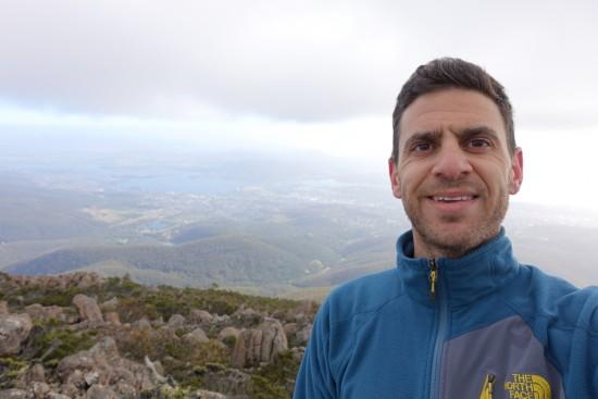 On top of Mount Wellington.